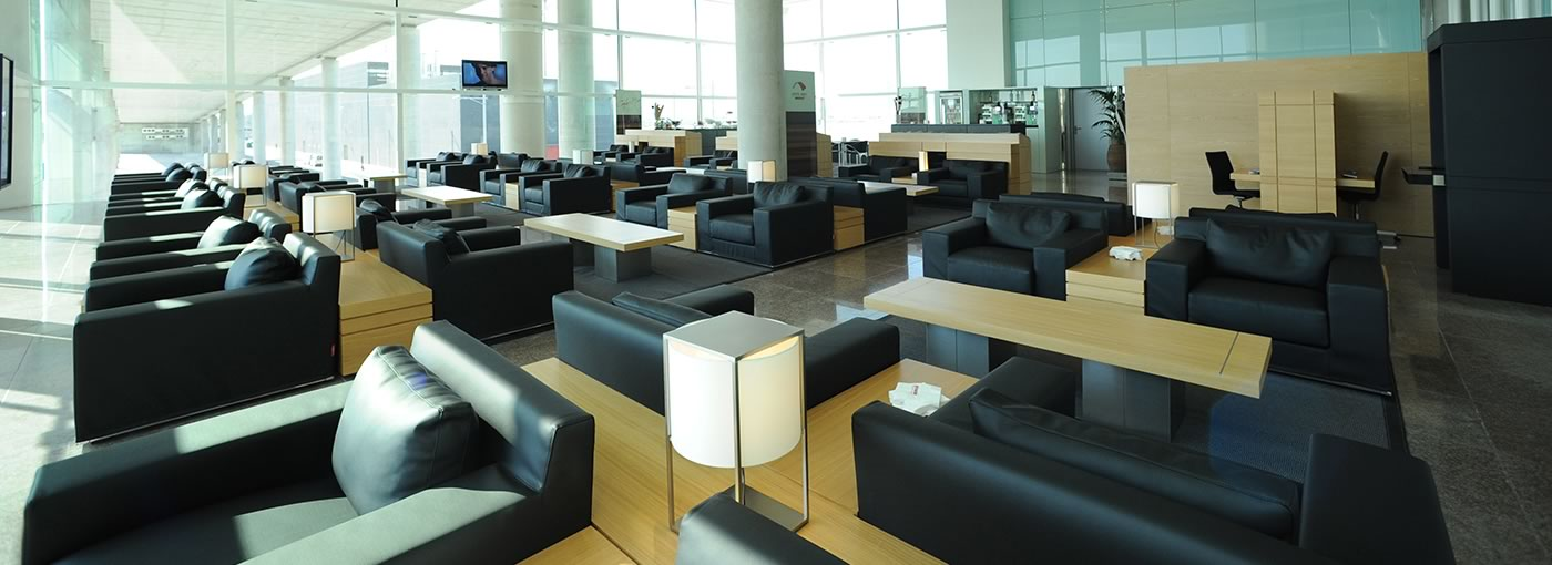 Premium Air Lounges. Sala VIP Colomer, Aeroport de Barcelona-El Prat Terminal 1.